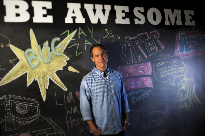 Brian Robbins, chief executive and founder of AwesomenessTV, is photographed at the network's Los Angeles headquarters on May 15, 2012.