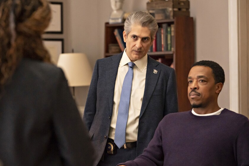 """Michael Imperioli, left, and Russell Hornsby in the two episode season finale of """"Lincoln Rhyme: Hunt for the Bone Collector """" on NBC."""