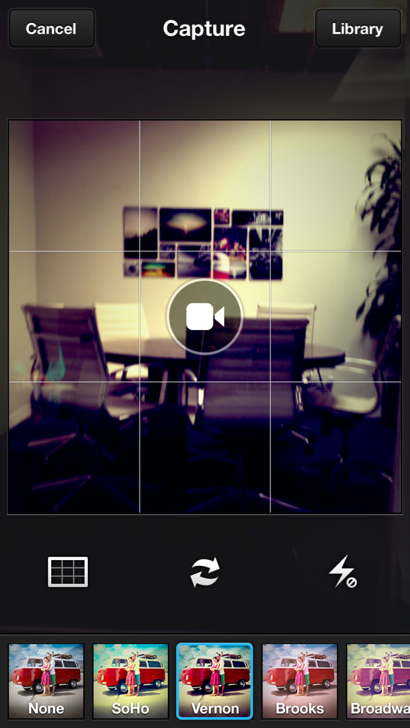 A screenshot from the latest version of Viddy, which has undergone a major redesign.