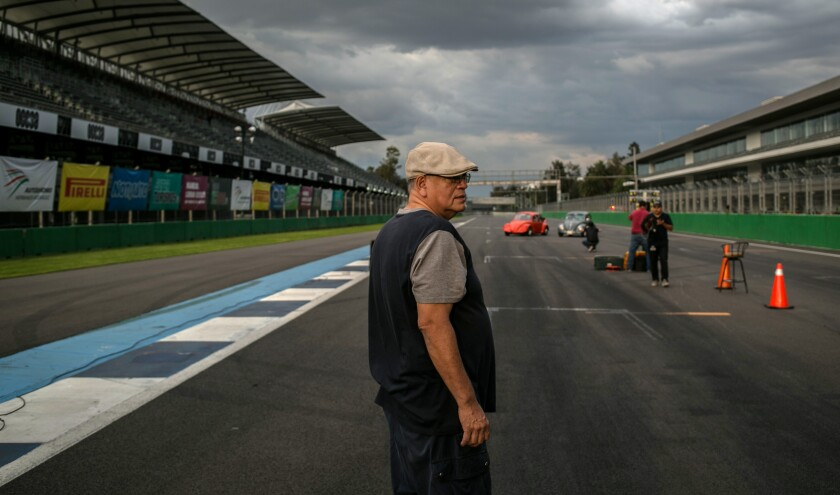 Mario Gamboa Sr. at the Autódromo Hermanos Rodriguez in Mexico City.