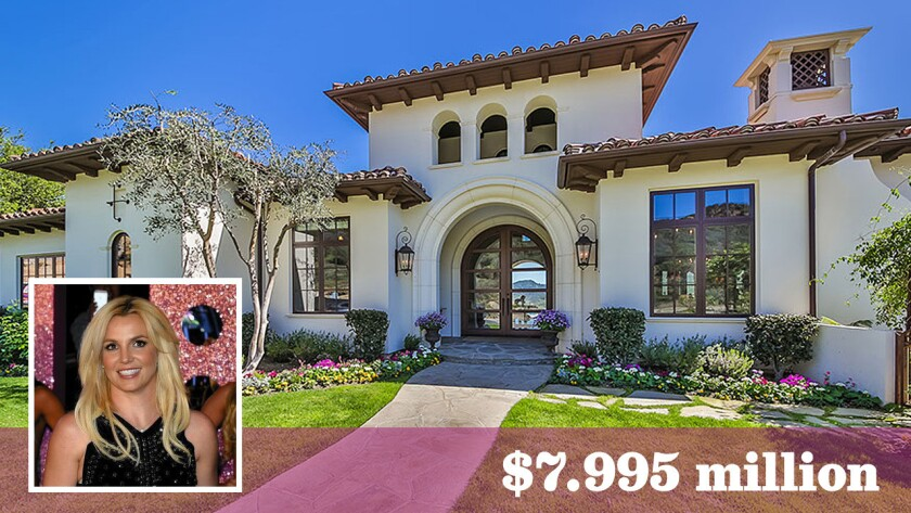Pop singer Britney Spears has chopped $1 million off the asking price for her home in Thousand Oaks. The Spanish-style estate now lists for $7.995 million.