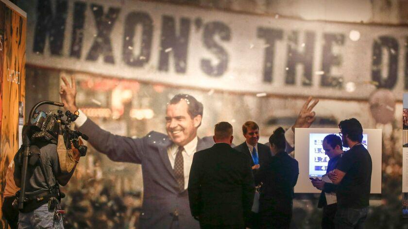 Visitors at the Richard Nixon Presidential Library in Yorba Linda.
