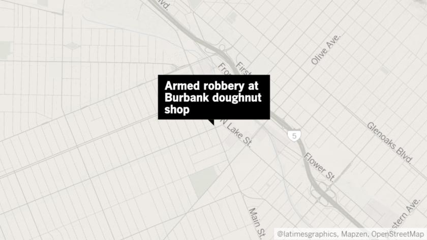 Armed robbery at Burbank doughnut shop
