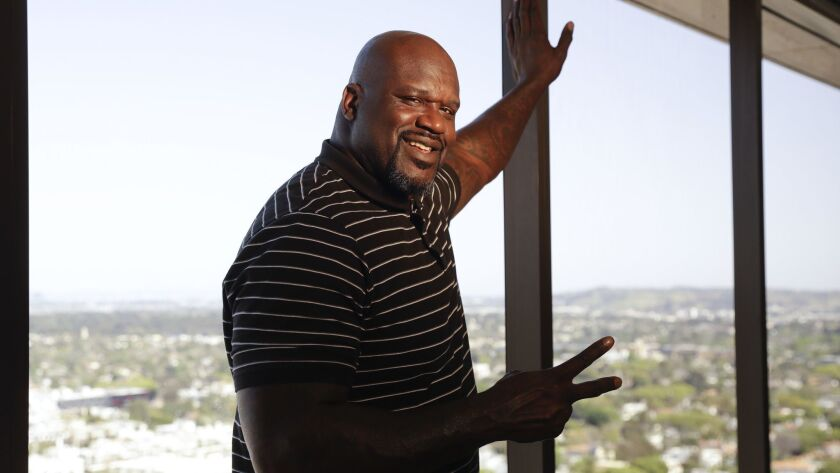 In this April 13, 2018 photo, Shaquille O'Neal poses for a picture in Los Angeles. The basketball ic