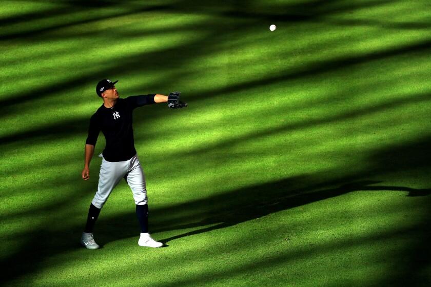 Yankees Outfielder Giancarlo Stanton zahlt einen Preis, um in New York zu spielen.
