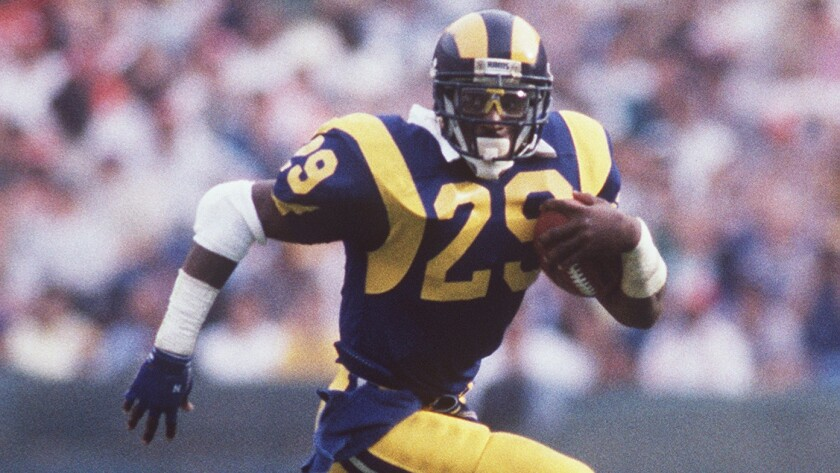 Eric Dickerson rushed for 2,105 yards during the 1984 season.