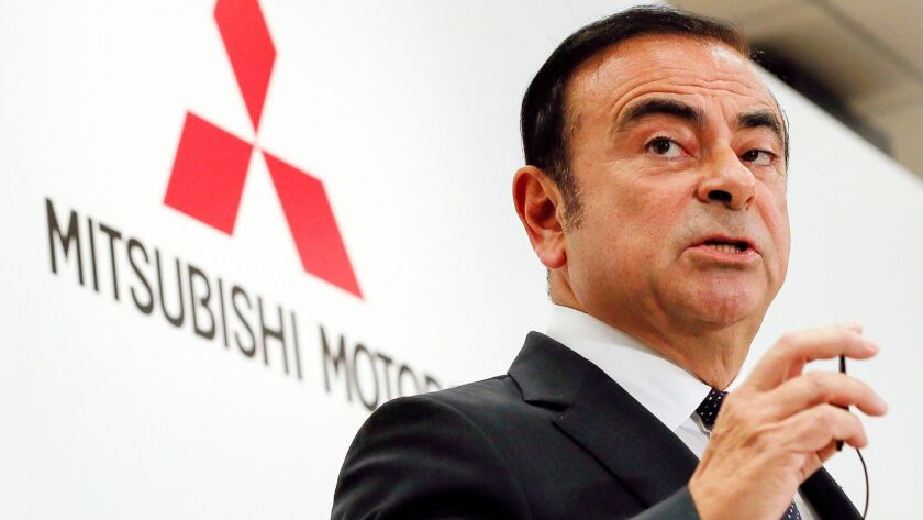 Carlos Ghosn speaks in Tokyo on Oct. 20, 2016.