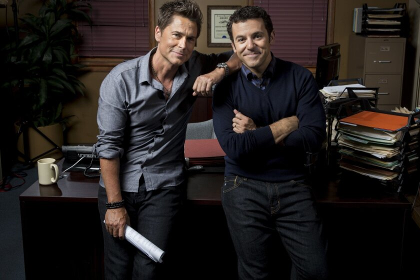 Rob Lowe and Fred Savage team up in 'The Grinder'