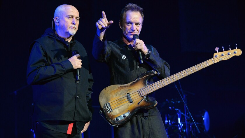 Sting and Peter Gabriel