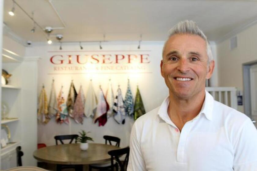 Chef Giuseppe Ciuffa operates his restaurant and catering business out of a headquarters and event space at 7853 Herschel Ave., (858) 581-2205. Website: grnfc.com