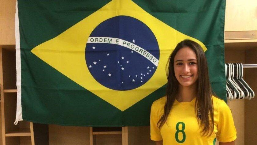 Bianca Caetano-Ferrara is playing for her mother's Brazilian homeland.