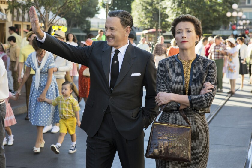 """""""Mary Poppins"""" author P.L. Travers (shown here in the movie """"Saving Mr. Banks,"""" played by Emma Thompson) apparently didn't care for Disneyland."""