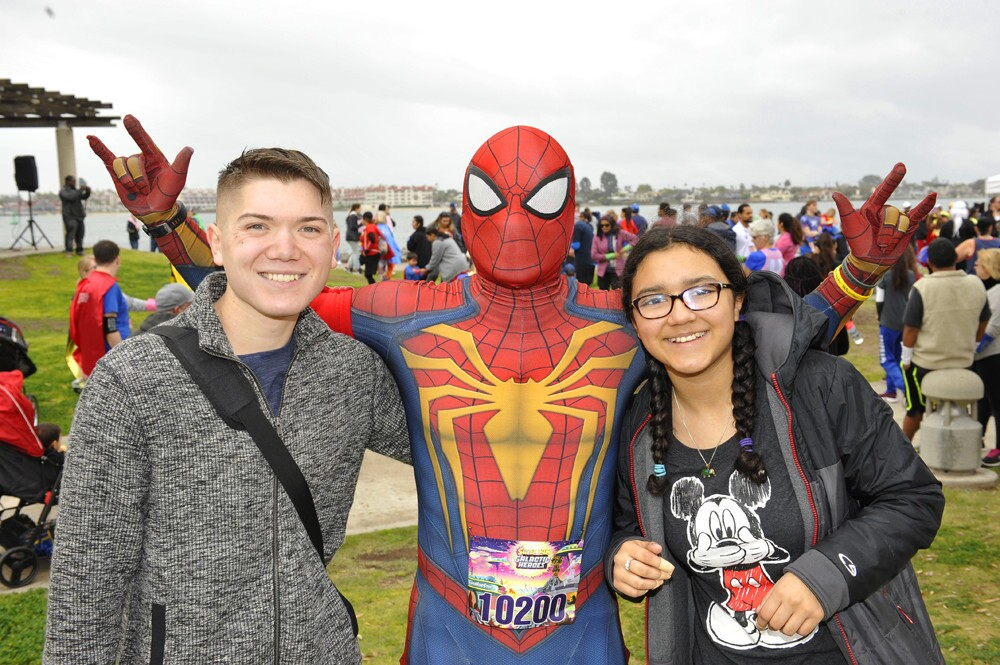 Super San Diegans donned their finest tights, capes and cuffs to participate in the Super Run San Diego on Saturday, March 3, 2018.