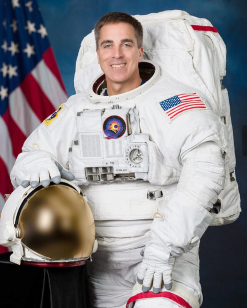 Astronaut Christopher Cassidy answered questions from Ramona students as he was traveling on the International Space Station.