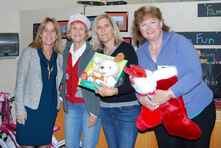 Members of Solana Beach Presbyterian Church's Foster Youth Ministry: Gretchen Morgan, Lorna Rammon, Claudia Bell and Jane Pineda