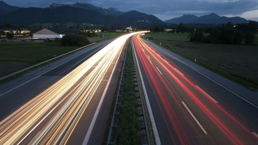 German autobahn A8. Getty Images. ** TCN OUT ** ORG XMIT: CHI1305241723134696