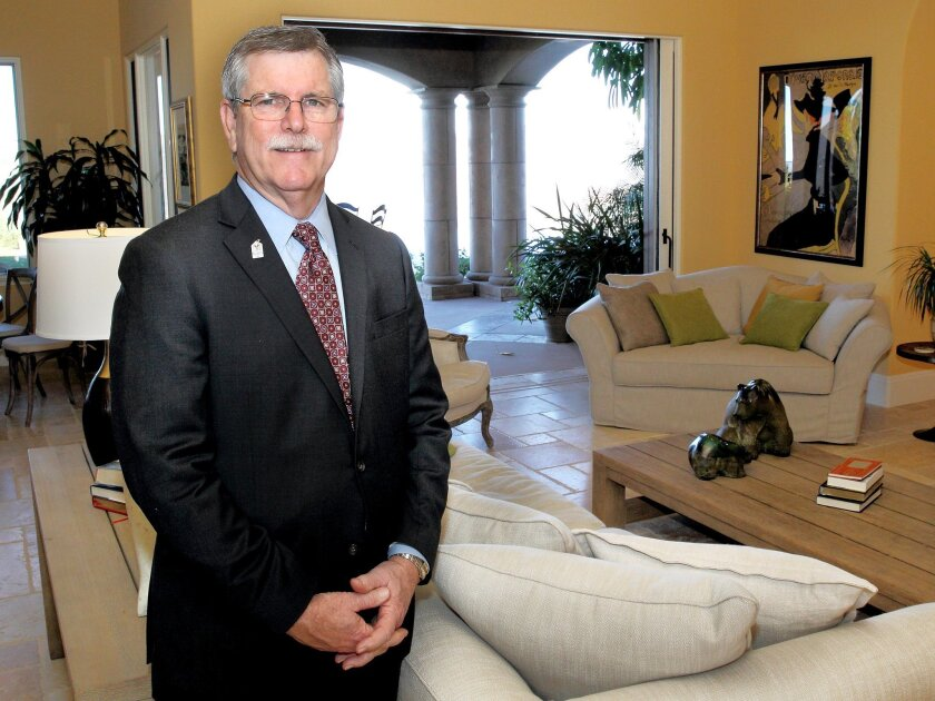 Chuck Day, seen here in the Dream House that will be raffled, is president and CEO of Ronald McDonald House Charities of San Diego.