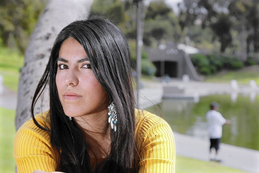 As a UCLA student, Arlette Lozano has a school health insurance policy. She worries that once she graduates, she'll no longer have access to coverage.