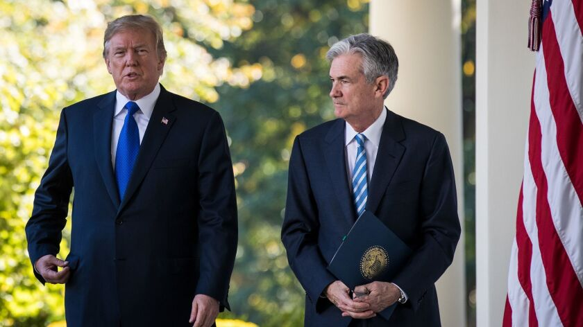 "President Trump dined with Federal Reserve Chair Jerome Powell at the White House on Monday. Powell told the president that the central bank will continue to set interest rates ""based solely on careful, objective and non-political analysis,"" according to the Fed."