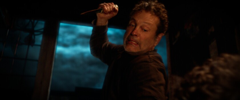 """Vince Vaughn holds a knife as the Butcher in """"Freaky"""""""