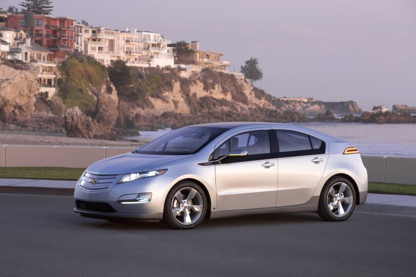 The four-seat, extended-range Volt is good for about 35 miles on battery power and when the reserve is depleted driving range is extended by a 84-hp, 1.4-liter direct-injection 4-cylinder.