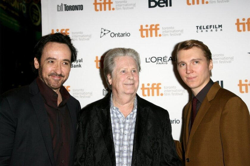 "John Cusack, Brian Wilson and Paul Dano at the Toronto International Film Festival premiere of ""Love & Mercy."""