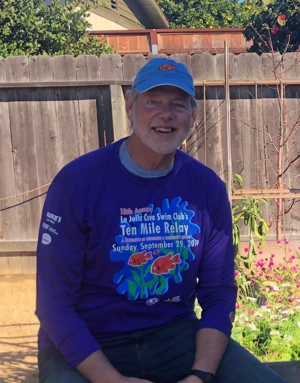 La Jolla resident John Heffner is organizer of the annual La Jolla Cove 10-Mile Relay swim.