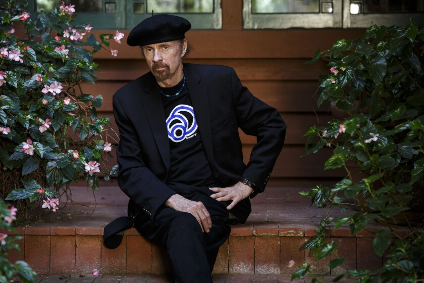 Novelist T.C. Boyle photographed at his home in Montecito. Boyle is a fixture of the Southern California literary scene and recipient of the 2015 Robert Kirsch Award for Lifetime Achievement at the upcoming L.A. Times Book Prizes and Festival of Books.