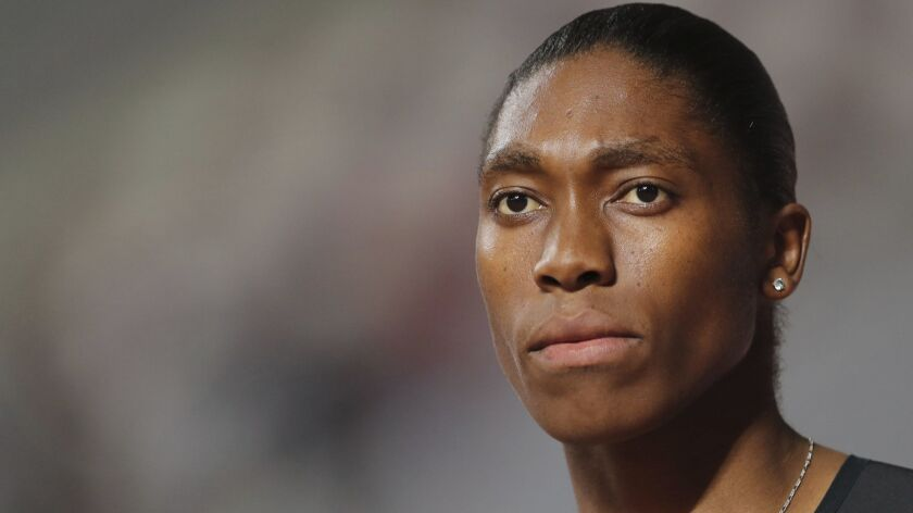 South Africa's Caster Semenya competes in the women's 800-meter final during the Diamond League in D