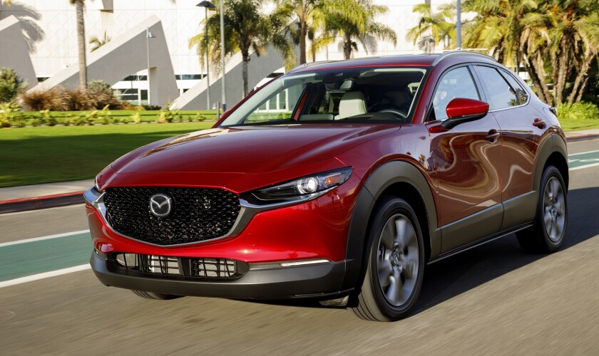 Sold in four trim levels with front- or all-wheel drive, the Mazda CX-30 offers starting prices that range from $22,995 to $30,700, including the $1,100 freight charge from Salamanca, Mexico.
