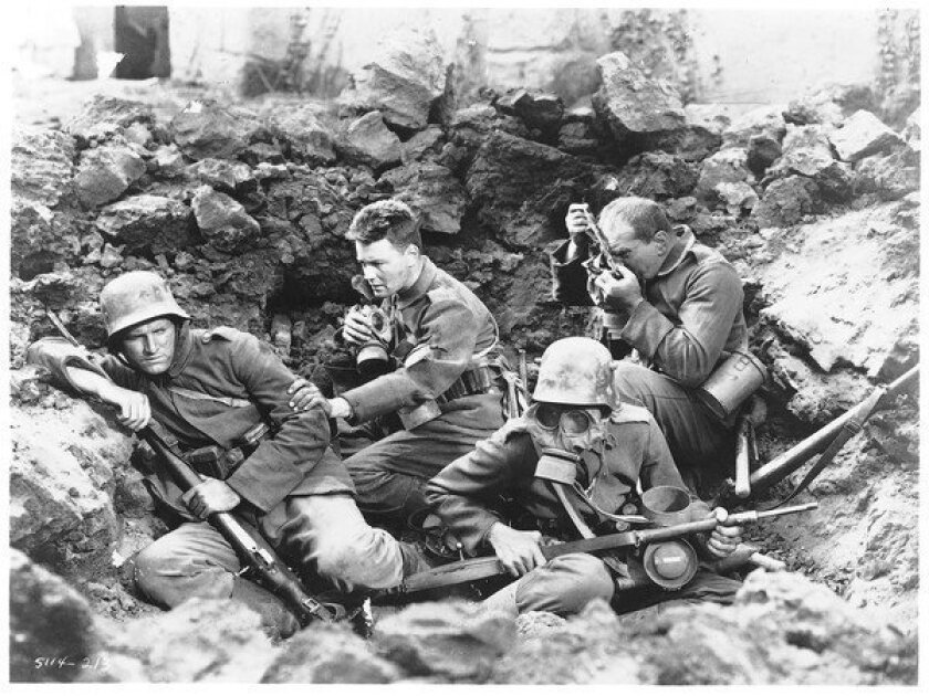 """A scene from """"All Quiet on the Western Front"""" from 1930."""