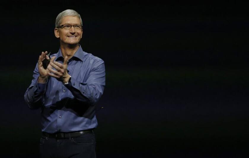El director ejecutivo de Apple, Tim Cook. EFE/Archivo