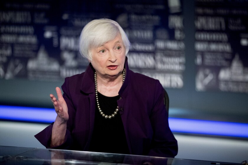 Former Fed Chair Janet Yellen