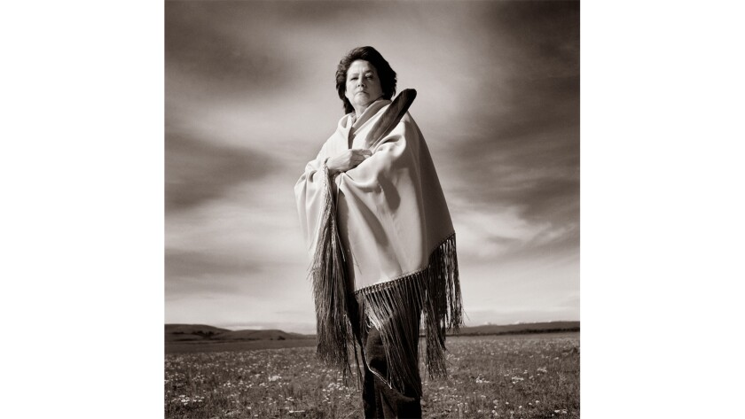 "Elouise Cobell in a still from the documentary ""100 Years."""