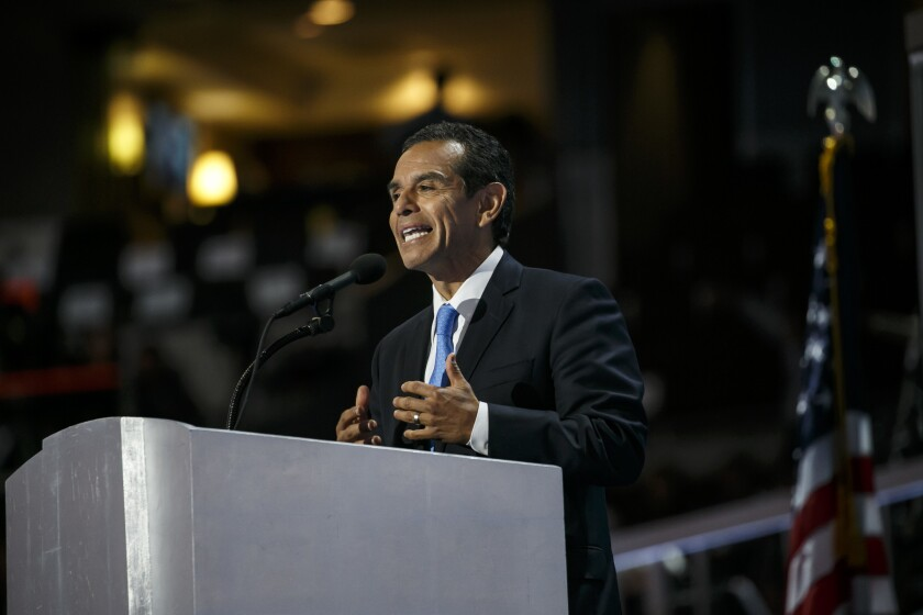 Antonio Villaraigosa at the Democratic National Convention in Philadelphia in July.