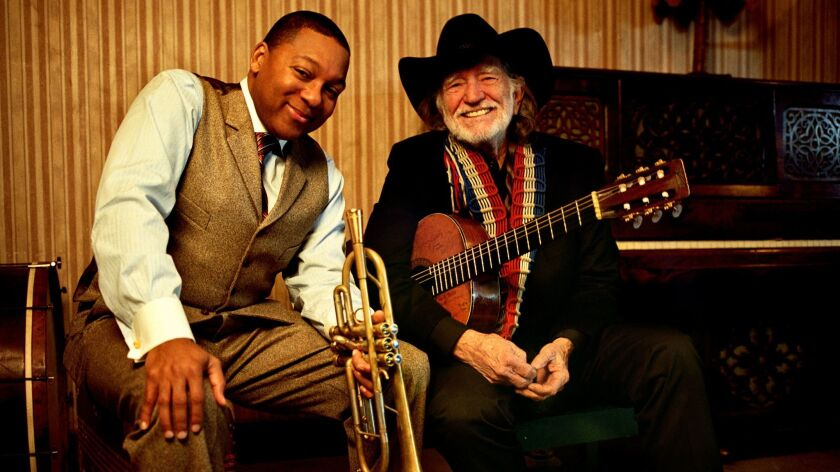Wynton Marsalis and Willie Nelson have performed and recorded together.
