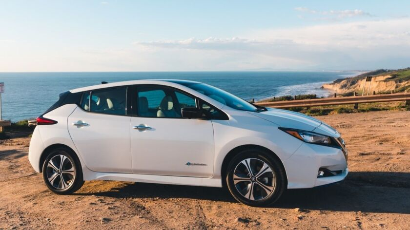 The more powerful 2019 Leaf Plus is now on sale with starting prices ranging from $37,445 to $43,445.