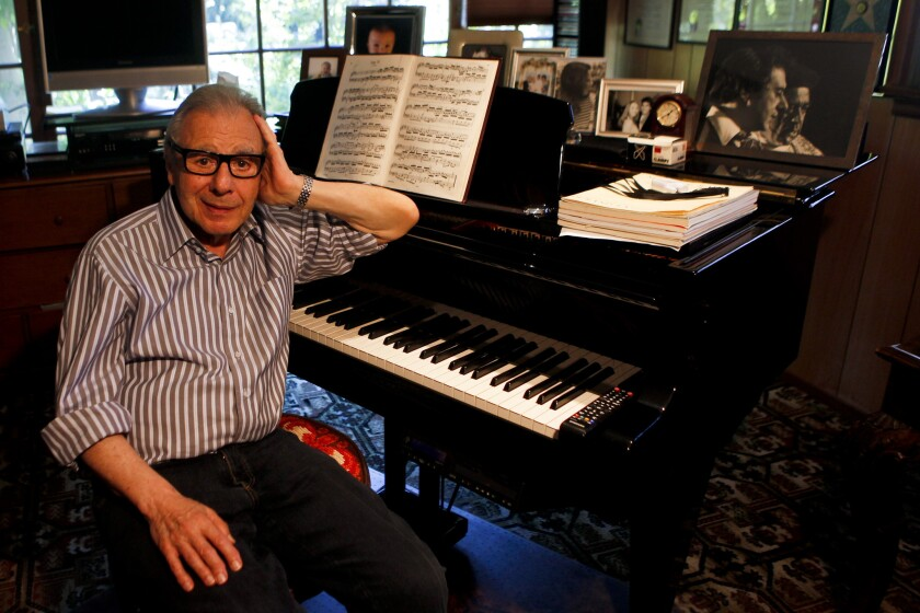 Lalo Schifrin in his studio behind his Beverly Hills home.