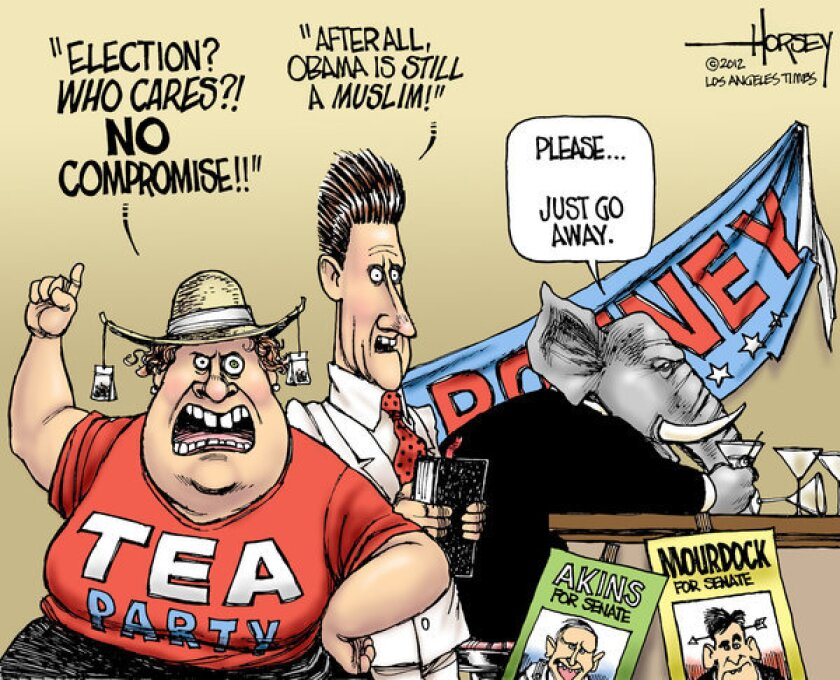 Tea party and religious right are a drag on Republicans