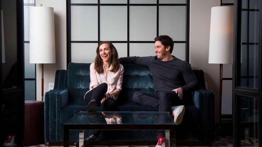 """Lucia Aniello and Paul W. Downs are romantic and professional partners who have a new film out called """"Rough Night."""""""