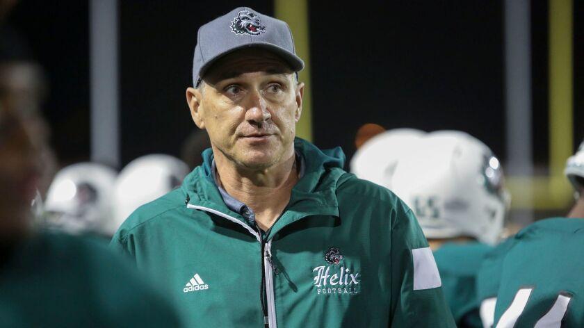 Helix head coach Troy Starr. photo by Bill Wechter