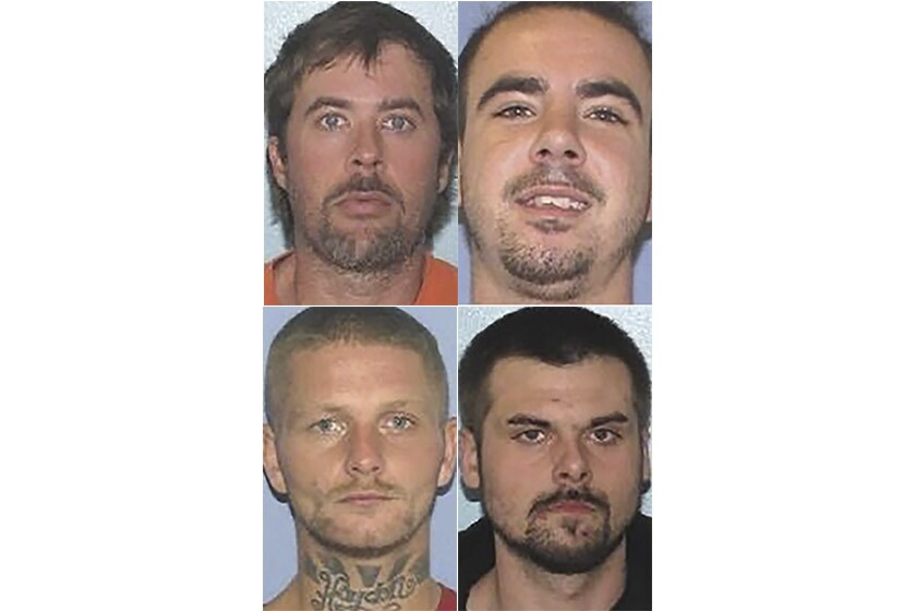 Mugshots of four inmates