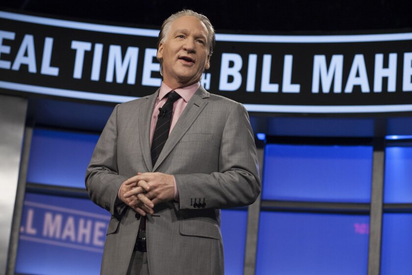 "Bill Maher hosts his HBO TV show ""Real Time with Bill Maher"" in Los Angeles. (AP Photo/HBO, Janet Van Ham, File)"
