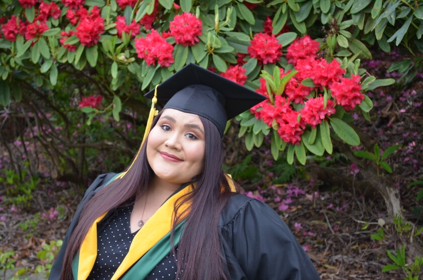 Daniela Marquina, 24, graduated from Portland State University