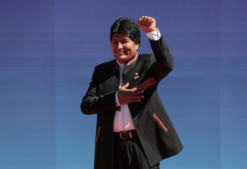 """El Gobierno de Donald Trump instó hoy al presidente boliviano, Evo Morales, a que """"respete"""" el resultado de los referendos constitucionales de 2009 y 2016 y renuncie a presentarse al cuarto mandato al que el Tribunal Constitucional de ese país le autorizó este martes. EFE/ARCHIVO"""
