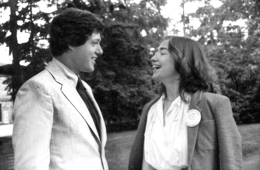 Bill Clinton and Hillary Rodham in 1969 at Wellesley College.