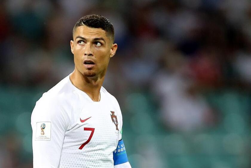 Cristiano Ronaldo of Portugal reacts during the FIFA World Cup 2018 round of 16 soccer match between Uruguay and Portugal in Sochi, Russia, 30 June 2018.(RESTRICTIONS APPLY: Editorial Use Only, not used in association with any commercial entity - Images must not be used in any form of alert service or push service of any kind including via mobile alert services, downloads to mobile devices or MMS messaging - Images must appear as still images and must not emulate match action video footage - No alteration is made to, and no text or image is superimposed over, any published image which: (a) intentionally obscures or removes a sponsor identification image; or (b) adds or overlays the commercial identification of any third party which is not officially associated with the FIFA World Cup)