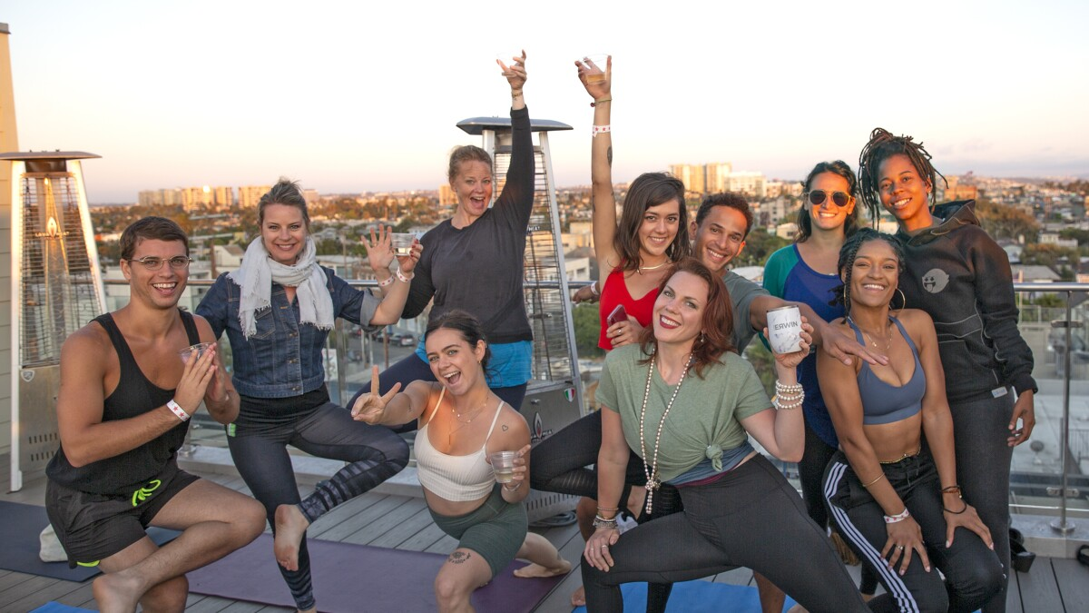 Drunk Yoga Where To Try It In L A Los Angeles Times