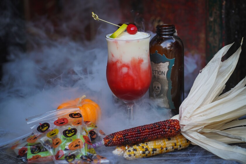 The Presley's Halloween rum cocktail, Presley Potion