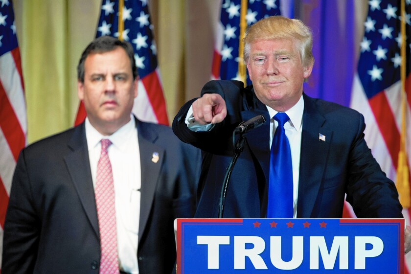 """""""No, I wasn't sitting up there thinking, 'Oh, my God, what have I done,'"""" Chris Christie said of his Super Tuesday appearance with Donald Trump."""